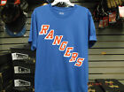 New York Rangers Home Blue Tee Shirt New FREE POSTAGE