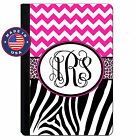 personalized leather ipad mini case - Monogrammed iPad Case for iPad Mini, iPad Air, Pro Personalized Zebra Chevron
