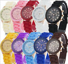 Unisex Geneva Silicone Jelly Quartz Analog Sports Ladies Womens Wrist Watch