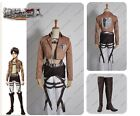 Attack on Titan Recon Corp Eren Jager Uniform Cosplay Costume + Shoes Full Set