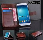 New Samsung Galaxy S4 Siv i9500 leather credit card wallet case cover Black Red