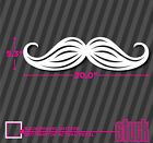 Hipster Car Mustache - Vinyl Decal Sticker Carstache Stache Stash Hip Funny Auto