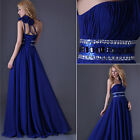 Noble Long Bridesmaid Wedding Cocktail Formal Party Pageant Ball Gown Prom Dress