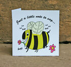 Bumble Bee Note Cards, Cute Kitsch Fun Stationery, Kids, Adults, Animal, Honey