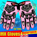 Boy Girl Children MOTOCROSS MOTORBIKE RACING GLOVES BMX ATV QUAD DIRT BIKE Pink