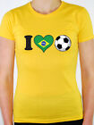 I LOVE FOOTBALL - Brazil / Brazilian Flag / Sport / Fun Themed Women's T-Shirt