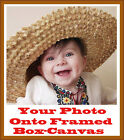 Your Own PHOTO or IMAGE onto Framed Box-Canvas Different variations sizes.