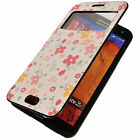 Womens Beautiful PANSY Flower Floral Window View Flip Cover Case Skin Protective