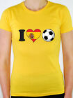 I LOVE FOOTBALL - Spain / Spanish / Flag / Fun / Sport Themed Women's T-Shirt