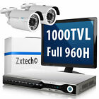 2 x 1000TVL Sony IR Cut Camera Digital Video Recorder DIY Setup Surveillance Kit