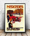 Mecedes Daimler : Old advertising Poster reproduction