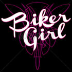 Motorcycle Biker Girl Women's T-Shirt All Sizes & Colors
