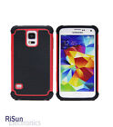 TPU Inner Tactile Anti-Slide Red Skin Case & screen protector for Samsung S5