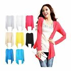 HOT Women Girl Thin Candy Colors Modal Cardigan Long Sleeve Knitted Tops WWK063