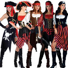 Adult Ladies Pirates Fancy Dress Costume Lady Womens Caribbean Pirate 6-28