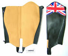 HORSE-RIDING GAITERS BLACK SYNTHETIC LEATHER WITH UK FLAG NEW FROM AMIDALE