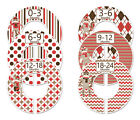 Sock Monkey #c104 boy Baby Closet Dividers Clothes Organizers 6 red brown