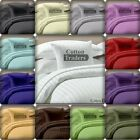 800TC 100% Egyptian Cotton 6pc Sheet Set UK Hotel 18 Color in Solid & Striped