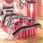 HEARTS Teen Girls PiNK Black Zebra Stripe Animal Print Co...