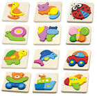 Viga Chunky Wooden Block Puzzle Twelve Designs age 18months Ideal for Party Bags