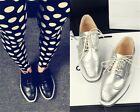 Womens Square Toe Lace Up Punk Emo Brogue Oxford Creepers Shoes Plus Size X6