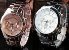 Fashion Men's Women's Girls Stainless Steel Case Alloy Band Quartz Wrist Watch