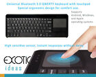 Universal Ergonomic Bluetooth Keyboard w Touchpad  for iOS, Windows, Android