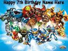 Skylanders edible icing cake toppers. Select + personalise your image!
