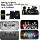 Bullet For My Valentine iPhone 4/4s leather style wallet case -Various Designs