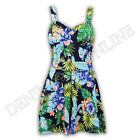 ladies jumpsuit boobtube womens playsuit padded print all in one floral strappy