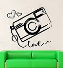 Wall Sticker Vinyl Decal Camera Photography Love Art Decor (ig2046)
