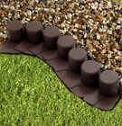 GARDEN FENCE LAWN EDGING BOARDER EDGE HAMMERED PALISADE FENCING PLASTIC 2,40m