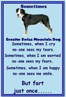 Greater Swiss Mountain Dog  Set of 9 flexible magnets