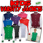 Kids American Style Varsity Letterman College Jacket Baseball New Child S-XL