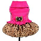 Small dog clothes pink & leopard coat Chihuahua coat Size -  S