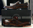 Mens Goor slip on formal dress brogues shoes designer sole in sizes 6 - 12