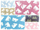 "Bears Face - Cuddle Soft Coral Fleece Fabric 59"" (150cm) wide - per metre/half"
