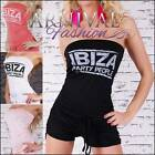 NEW italian FUNKY OVERALL 8 10 12 14 SEXY JUMPSUIT S M L XL casual wear HOTPANTS