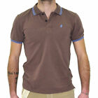 uk 3595 Polo shirt men MARLBORO CLASSICS MCS t-shirt stretch short sleeve brown