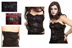 Jordash Dark Star Gothic Fleur Buckle Basque Corset Black Red Purple Size S, M
