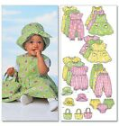 Butterick 5624 Baby Accessories Dress Romper Suit Jumpsuit Hat Bag Pattern B5624