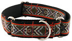 Country Brook Design Red Tapestry Woven Ribbon Martingale Dog Collar