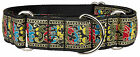 Colorful Paisley Country Brook Design Woven Ribbon Martingale Dog Collar