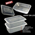 Plastic Containers Tubs Clear With Lids Microwave Food Safe Takeaway SNAP ON LID
