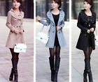 New Womens Slim  Trench Double-breasted Jacket coat Outwear size 8 8-10 10-12 12