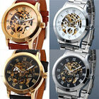 Top Quality Hot Mechanical Automatic Analog Stainless Skeleton Mens Wrist Watch