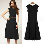 Newly Women Celebrity OL Wear To Work Sleeveless Slim Tunic Clubbing Midi Dress