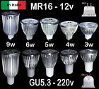 Faretto LED MR16 12v GU5.3  220v LAMPADA BULBO Lampadina 3w 4w 5w 6w 9w