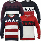 mens jumper Soul Star American flag USA striped knitted sweater top pullover