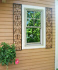 New Orleans Wrought Iron Exterior Window Shutters - Metal Wall Art